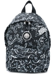 Versus Printed Backpack Black