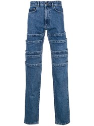 Y Project Deconstructed Straight Jeans Blue