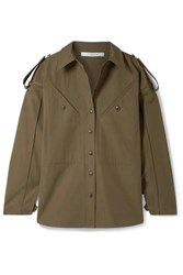 Givenchy Oversized Cotton Canvas Shirt Army Green