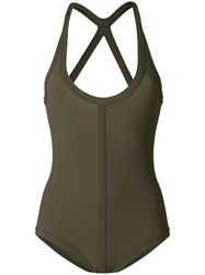 Rick Owens Fitted Swimsuit Green