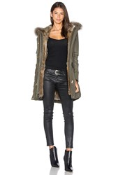 Sam. Tribeca Parka With Rabbit And Asiatic Raccoon Fur Army