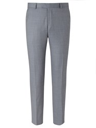 Richard James Mayfair Wool Sharkskin Slim Fit Suit Trousers Slate