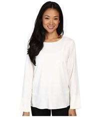Lilla P Crepe Long Sleeve Blouse Winter White Women's Blouse