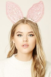 Forever 21 Lace Bunny Ear Headband