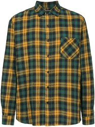 Adaptation Plaid Checked Shirt Green