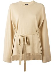 Joseph Loose Fit Belted Jumper Nude Neutrals