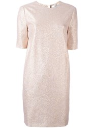 Lanvin Glitter Detail Shift Dress Pink Purple