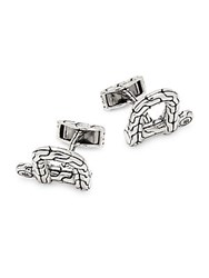 John Hardy Silver Shackle Cufflinks No Color