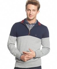 Tommy Hilfiger Signature Colorblocked Quarter Zip Sweater Griffin