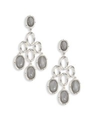 John Hardy Bamboo Grey Moonstone And Sterling Silver Chandelier Earrings