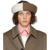 J.W.Anderson Jw Anderson Brown Colorblock Cable Knit Hat