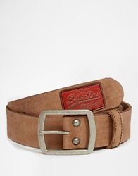 Superdry Classic Distressed Belt In Box Tan