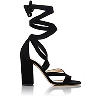 Barneys New York Women's Zea Ankle Wrap Sandals Black Blue Black Blue