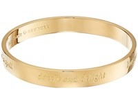 Kate Spade Idiom Bangles Engraved Bangle Magic Gold Bracelet