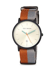 Ted Baker Round Stainless Steel Watch Multi