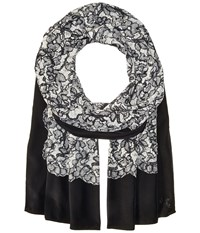 Michael Michael Kors Umbria Lace Oblong Black Scarves