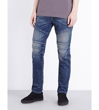 True Religion Rocco Simple Moto Slim Fit Tapered Jeans Dusty Rider