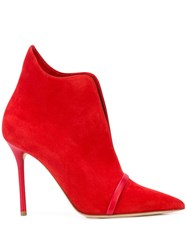 Malone Souliers Cora Pointed Toe Booties Red