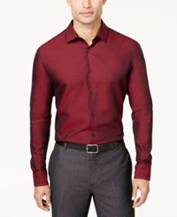 Alfani Men's Polished Shirt Created For Macy's Tango Red