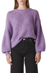 Whistles Sophia Wool Blend Sweater Lilac