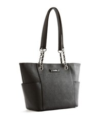 Calvin Klein Saffiano Leather Tote Black