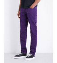 Paul Smith Overdyed Slim Fit Tapered Jeans Purple