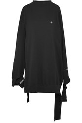 Vetements Champion In Progress Oversized Cotton Jersey Dress Black