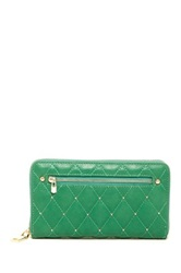 Urban Expressions Parket Stud Quilted Wallet Green