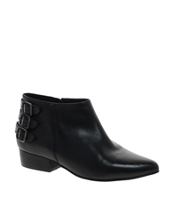 Faith Stirling Black Leather Ankle Boots