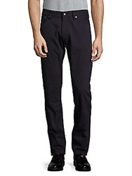 Ralph Lauren Solid Cotton Blend Pants Navy