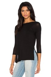 Bcbgeneration Side Slit Tee Black