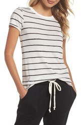 Alternative Apparel Ideal Print Tee Eco Ivory Ink Stripe