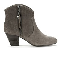 Ash Women's Jess Suede Heeled Ankle Boots Topo