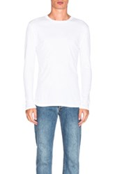 Helmut Lang Jersey Long Sleeve Tee In White