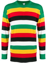 Loewe Striped Crew Neck Jumper Green