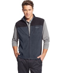 Greg Norman For Tasso Elba Big And Tall Five Iron Performance Fleece Golf Vest Only At Macy's Storm Grey
