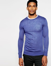 United Colors Of Benetton Knitted Crew Neck Jumper Blue538
