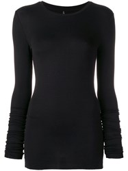 Thom Krom Long Sleeve Fitted Top Black