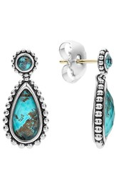 Lagos Women's 'Maya' Teardrop Earrings Chrysocolla
