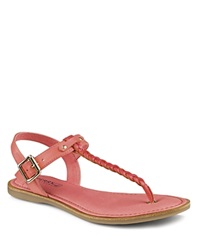 Sperry Flat T Strap Sandals Virginia Coral