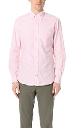 Gitman Brothers Vintage Long Sleeve Pink Stripe Oxford Shirt