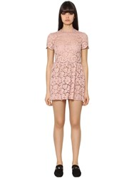 Valentino Lace Dress W Scalloped Details