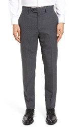 Todd Snyder Men's White Label Mayfair Flat Front Check Stretch Wool Trousers Medium Grey