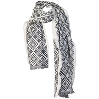 Fat Face Thick Aztec Woven Scarf Phantom