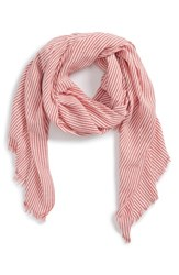 Sole Society Engineer Stripe Scarf Red Multi