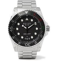 Gucci Dive 45Mm Stainless Steel Watch Silver