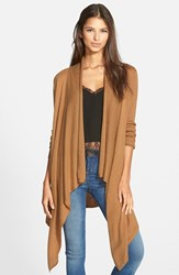 Women's Leith Waterfall Open Front Cardigan Tan Dale