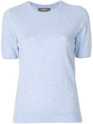 N.Peal Cashmere Round Neck T Shirt Blue