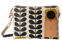 Orla Kiely Matt Laminated Tall Flower Stem Print Travel Pouch Ink Travel Pouch Navy