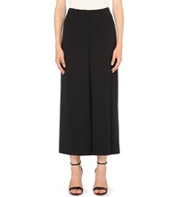 Warehouse Wide Leg Crepe Trousers Black